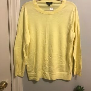 NWT J.Crew Yellow Tippi Sweater